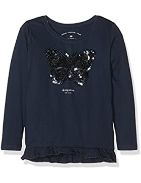 TOM TAILOR Kids Mädchen Langarmshirt Tee with Sequins Butterfly
