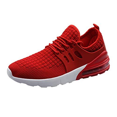 SHE.White Herren Damen Sneaker Straßenlaufschuhe Sportschuhe Turnschuhe Outdoor Leichtgewichts Laufschuhe Freizeit Atmungsaktive Fitness Schuhe 39-46 -