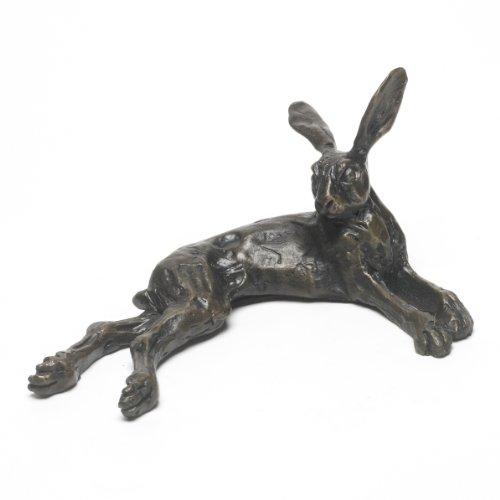 Sue Maclaurin Lügen Hase handgefertigt Statuette Bronze Skulptur von Nelson & Forbes -