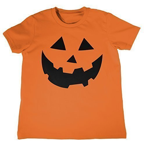 MYOG KÜRBIS GESICHT Kinder T-shirt, Halloween Kostüme Kinder T-shirt Top, Ages 3-13 jahre alt - Orange, Kids S (5-6 (Gesichter Kürbisse Halloween)