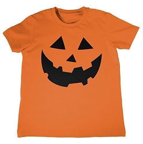 MYOG KÜRBIS GESICHT Kinder T-shirt, Halloween Kostüme Kinder T-shirt Top, Ages 3-13 jahre alt - Orange, Kids S (5-6 (Kostüme Jahre Ideen Alt Halloween 3)