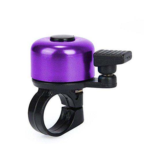 FENSIN Fahrrad klingel - Klingel Fahrrad Zubehör - Ring schwarz Laut Mini Bell Glocke Hupe für Mountainbike MTB Rennrad Sound Alarm (Lila)