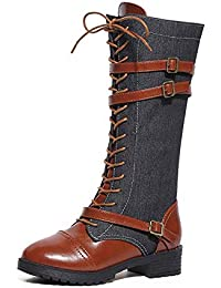Amazon.es  Botas Militares Hombre - Rodilla   Zapatos  Zapatos y ... 2d993fab4fcc