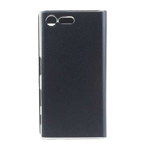 Für Sony Xperia X Compact Litchi Textur Horizontale Flip Leder + TPU Cover Case mit Call Display ID by diebelleu ( Color : Gold ) Dark blue