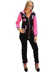 Dsguided Damen Onesie Jumpsuit schwarz pink