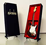 Miniatur Gitarre Replica: Rory Gallagher-Modell Mini Rock Kuriositäten Nachbildung Holz Miniatur-Gitarre & Display Gratis Ständer (UK Verkäufer)