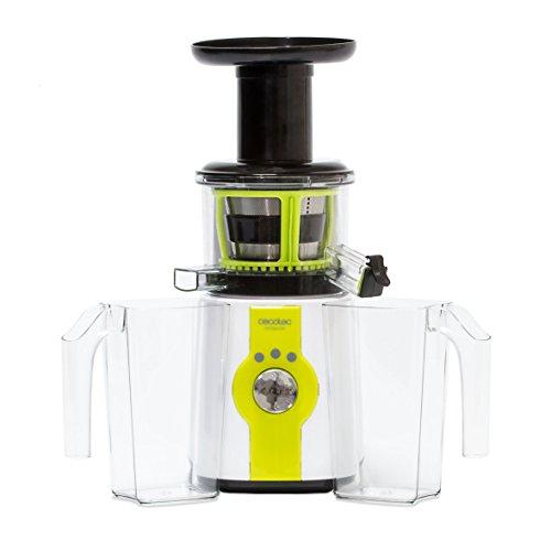 Cecotec Licuadora de Prensado en Frío Cecojuicer. Para Frutas y Verduras, 45 rpm, 3 posiciones, Tambor...