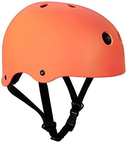 SymbolLife BMX / Skate / Motorroller Helm fahrradhelm motorroller helm Zyklus / Bike / Scooter / Skatehelm CE EN1078 TÜV Zulassungen 54 - 57cm Größe S Orange