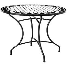 Mesa de jardín o Comedor de cerámica Negra Garden - LOLAhome