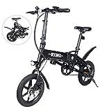 ZhiQli Elektrofahrrad Erwachsene Klapprad 240W City E-Bike, Geschwindigkeit bis zu 25 km/h mit 36 V 4.0Ah Li-Ion-Akku und 25-45 km Langen Hybrid-Bikes für Herren, Damen und Teenager-Pendler