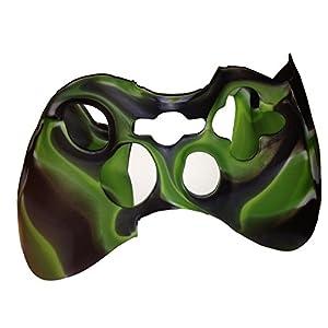 OSTENT Camouflage weiche Silikon Skin Tasche Tasche kompatibel für Microsoft Xbox 360 Controller – Farbe grün
