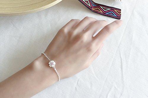 Upstudio Kosmetik Schmuck Armbänder Korea Japanese Style Sakura Armband Süße Rosa Diamantschmuck