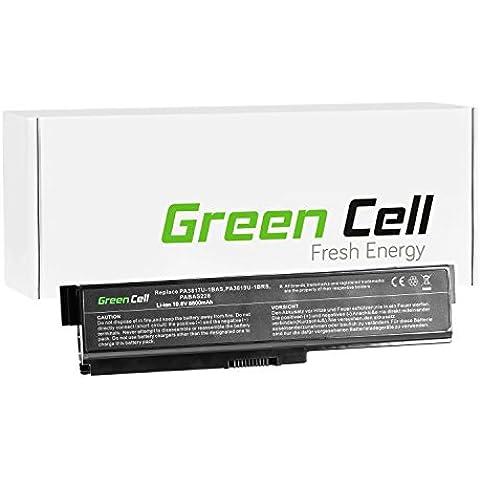 Green Cell® Extended Serie Portátil Batería para Toshiba Satellite C660D-A2K Ordenador (8800mAh)