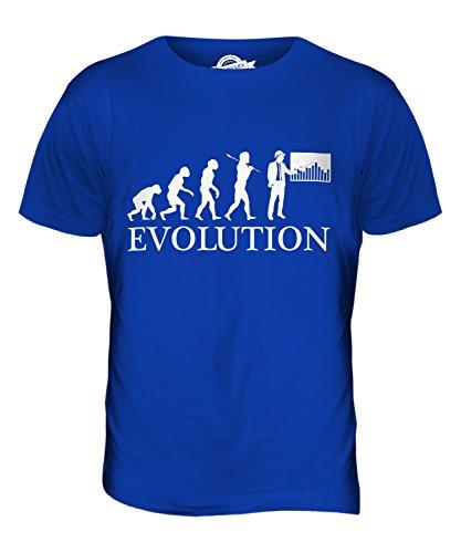 CandyMix Baumanagement Bauleiter Evolution Des Menschen Herren T Shirt Königsblau