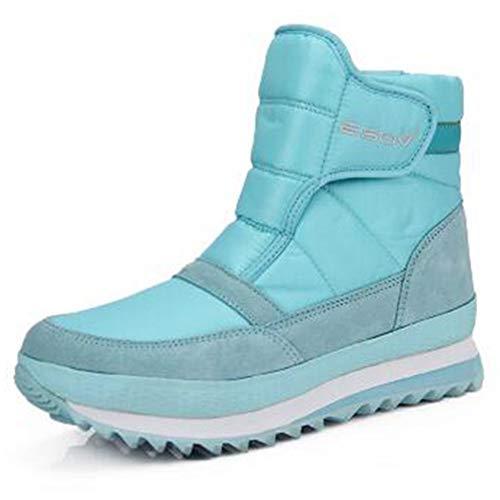Frauen Stiefeletten Plattform warme weiche schlüpfen Sie in Wohnungen Schnee Schuhe wasserdicht Wedge Winterstiefel