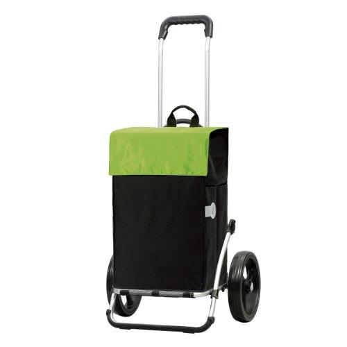 Andersen Chariot de courses Royal avec sacoche Hera verte, volume 44L, cadre aluminium et roues à 3 rayons