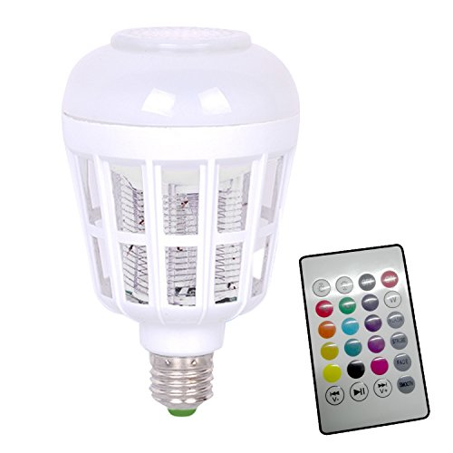 2-in-1 Elektrische LED Nachtlicht Bug Zapper Glühbirne Mückenschutz Killer Licht mit Bluetooth Musik Lautsprecher Bunte Licht
