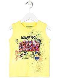 abe5b191f losan Camiseta sin Mangas Niño en Color Verde con Estampado