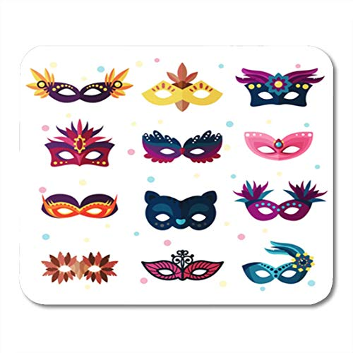 HOTNING Gaming Mauspad Colorful Mardi Authentic Party Carnival Face Masks Masquerade Gras 11.8
