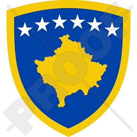COSSOVO Kossovo Stemma Distintivo Distinivo Cresta KOSOVA 90mm (3.5