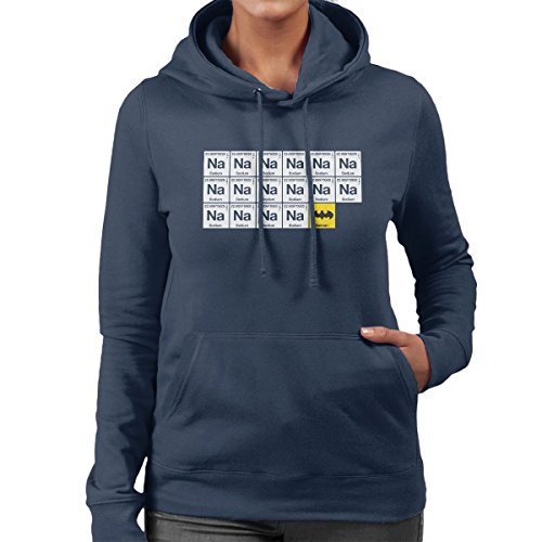 Batman Chemical Symbols Women's Hooded Sweatshirt Navy Blue