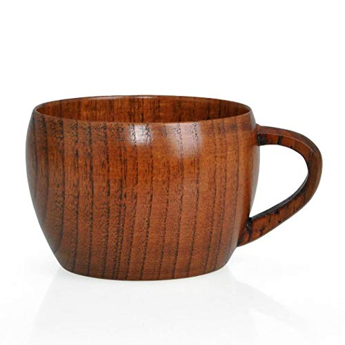Voiks Natural Wood Cup, Wooden Cup Wooden Tea Set Cup Natural Wood...