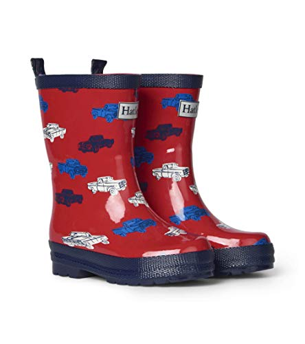 Hatley Kids Shiny Rain Boots - Pickup Trucks
