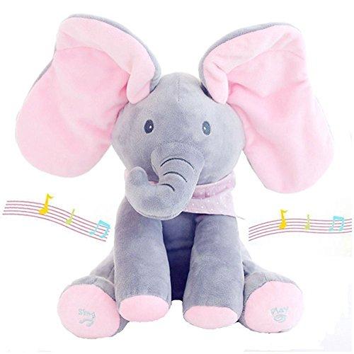 Puppen Spielzeug Kids Grey Peek-a-boo Elephant With Music Baby Pal Animated The Elephant Plush-po Attraktive Mode