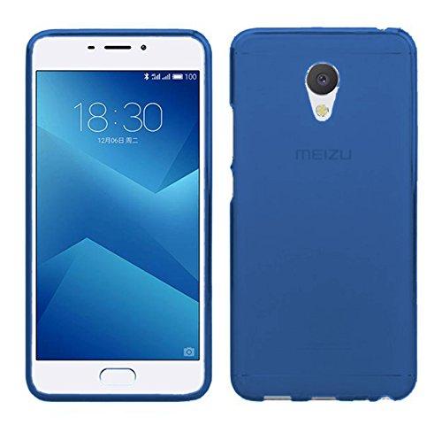TBOC® Blau Gel TPU Hülle für Meizu M5 Note - Meilan Note 5 (5.5 Zoll) Ultradünn Flexibel Silikonhülle