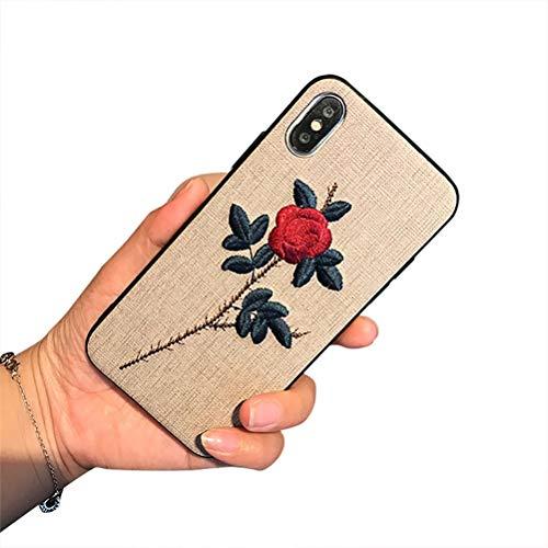 iPhone X hülle, Schutzhülle iPhone XS [fashion Chic Blume] Schmales Gehäuse [Anti-Fleck] [Kratzfest] TPU Bumper Case Cover Tasche hülle für Apple iPhone X