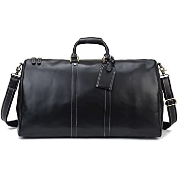 BAIGIO Mens Leather Holdall Travel Weekend Bag Carry-on Luggage ...