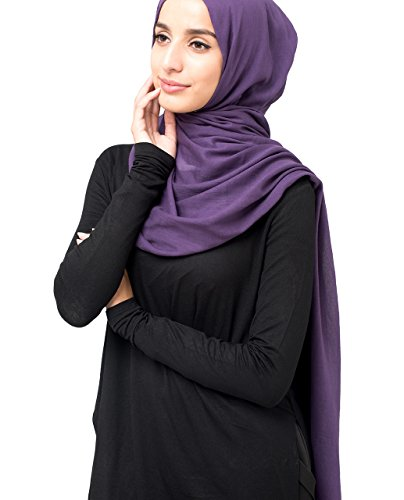 InEssence© New Sweet Grape Purple Voile Scarf Ladies Wrap Hijab Maxi Size