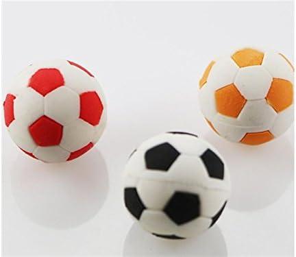 Articles de bureau 3 Pcs Creative Football Football Rubber Eraser Papeterie de Bureau de l'école pour les  s (Couleur Aléatoire) Fournitures de papeterie | Luxuriant Dans La Conception