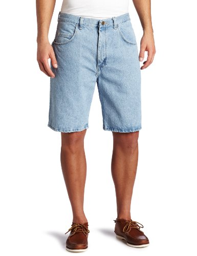 Wrangler Men's Rugged Wear Relaxed Fit Short, Vintage Indigo, 42 (Shorts Five-pocket-relaxed Fit)