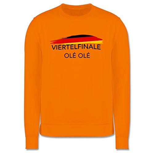 EM 2016 - Frankreich - Deutschland Viertelfinale Olé Olé - Herren Premium Pullover Orange