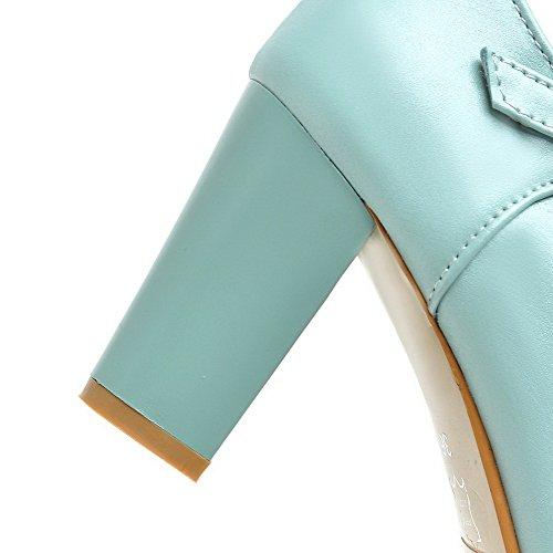 Donna Anello Rotondo Tallone Chiaro Agoolar Blu Scarpe Solido Colore fqw64Urx7f