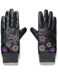Desigual Gloves_Astoria Guantes para clima frío, Black, U para Mujer