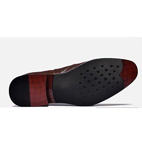 Scarpe Di Cuoio Maschile Abbigliamento Formale Rivestito Abbigliamento Moda Semplice Scarpe Uomo Nero Marrone Black