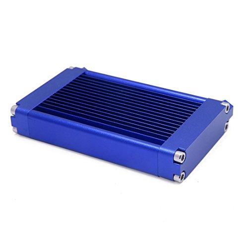 Sourcingmap Azul de Aleación Aluminio de 9mm Rosca Agujero Diámetro Motocicleta Motor...