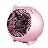 CZWNB Mini 250W Espace Chauffe-Eau Portable Chaud Ventilateur d'hiver Personnel Chauffage électrique pour Le Bureau à Domicile en céramique Petits réchauffeurs,Pink