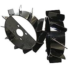 Bricoferr PT60001 - Ruedas metálicas (aperos de motoazada)