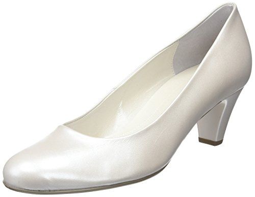 Gabor Vesta 2, Damen Geschlossene Pumps , Beige  (Perlatokid -Off-White+Absatz) - Größe: 35.5 EU (3 UK ) Mary Jane Platform Wedge