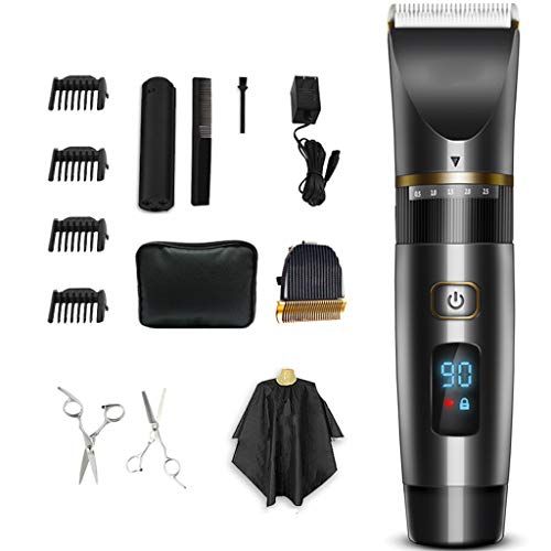 Electric scissors hair clipper hair adult hair salon professional hair clipper artifact household scissors rechargeable children LED smart display body wash -