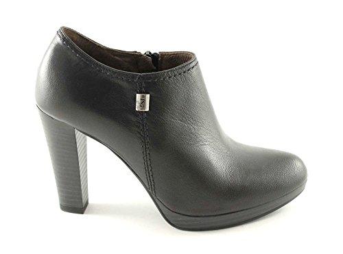 NOIR JARDINS 13302 noir chaussures femme bottines glissière latérale, Nero, 39