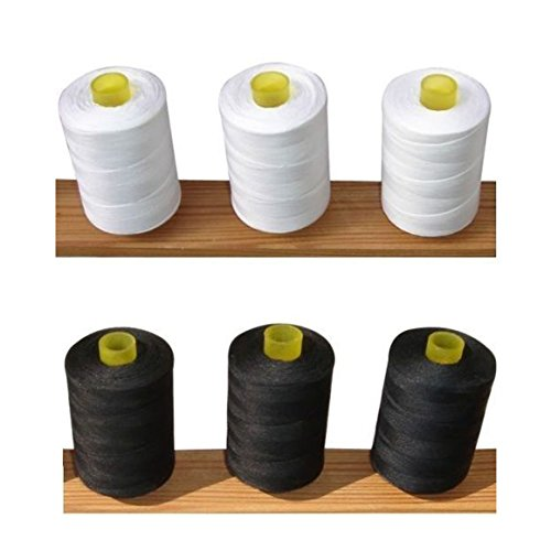 black-and-white-pure-cotton-sewing-machine-thread-800m-large-spools-reels-for-all-sewing-stitching-p