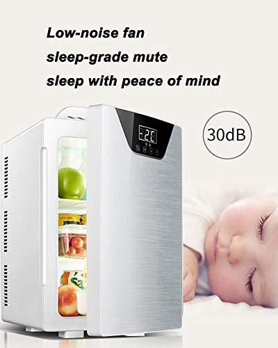 41rLo3SShML - JCDZSW Refrigerador de automóvil CNC de Tres núcleos 20L Mini refrigerador pequeño de Doble Uso para el hogar Adecuado para refrigeradores de Alimentos, medicamentos, cosméticos, hogar y Viajes,Plata