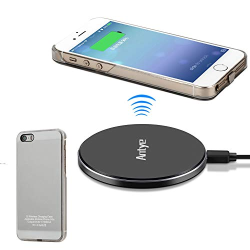 JinQiu Qi Wireless-Ladegerät Kit für iPhone 5 5S SE - Inklusive Wireless Charging Receiver Case und Aluminium Wireless Charging Pad (5s-wireless-ladegerät Iphone)