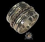 Anneau de spinner - anneau de méditation - anneau anti-stress - trois anneaux en métal - anneau multi-métal - bague en métal mélangé - anneau unisexe - bague de yoga