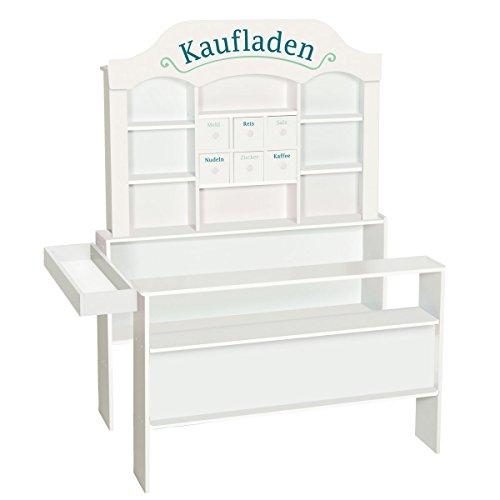 Roba Kaufladen aus Holz - Kaufmannsladen / Marktstand für Kinder Weiss