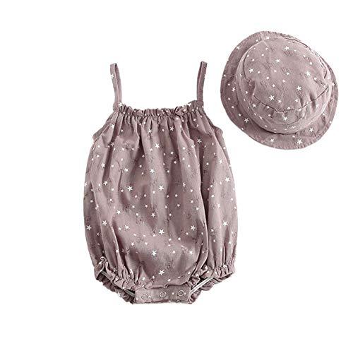 Shiningbaby Baby-Sommerkleidung Set Neugeborenen Strampler und Hut 2 Stück ()
